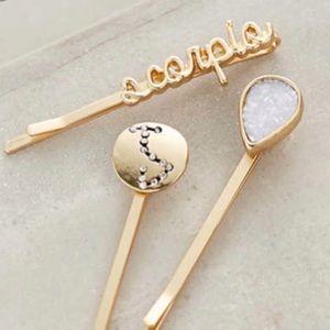 Anthropologie zodiac bobby pin set of 3 - Scorpio